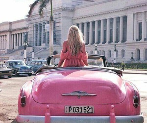 pink, car, and city image