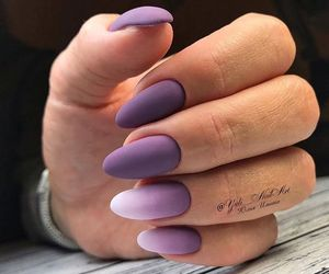 nails, purple nails, and polish nails image