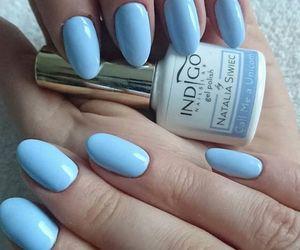 baby blue, blue nails, and nails image