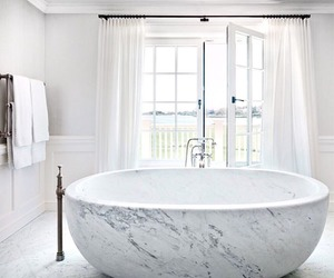 marble, white, and bathroom image