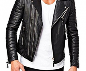 biker jacket, style, and quilted jacket image