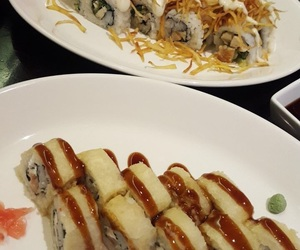 delicious, japanese, and sushi image