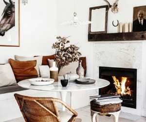 interior, design, and fireplace image