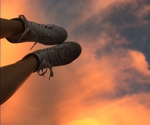 sky, shoes, and wallpaper image