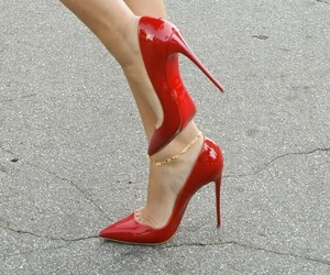 red, fashion, and shoes image