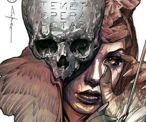 girl, skull, and dan chase image