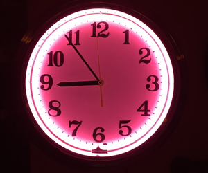 clock and pink image