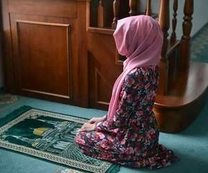 flowers, girl, and hijab image
