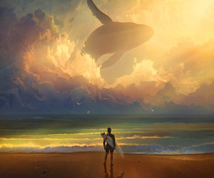 whale, art, and surf image