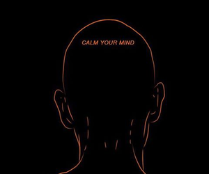 art, black, and calm image