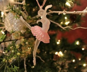 ballerina, christmas, and christmas tree image