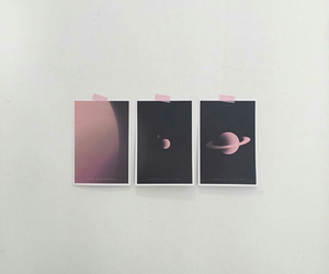 pink, space, and aesthetic image