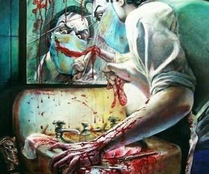joker, batman, and blood image