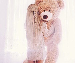 girl, fashion, and bear image