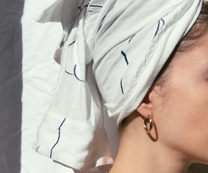 earring, girl, and head scarf image