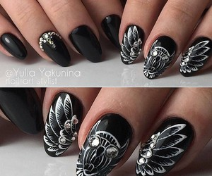beauty, owl, and nails image