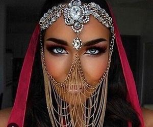 beauty, eyes, and jewerly image