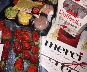 food, chocolate, and merci image