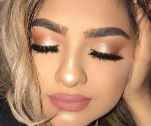blonde, cosmetics, and eyelashes image