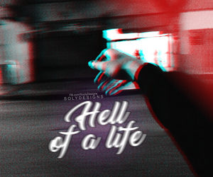 black, hell, and life image