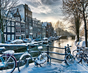 amsterdam, winter, and snow image
