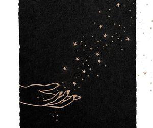 stars, art, and black image