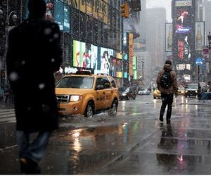 rain, new york, and city image