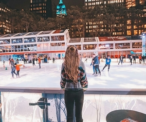 new york, winter, and cold image