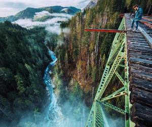 bridge, epic, and mountains image