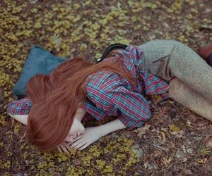 red hair, redhead, and long red hair image