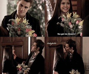 tvd, stelena, and flowers image