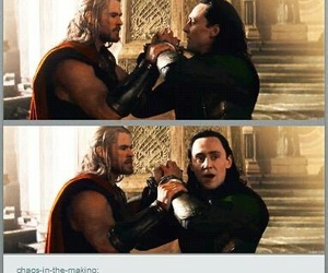 loki, thor, and Marvel image