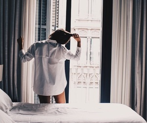 girl, white, and morning image