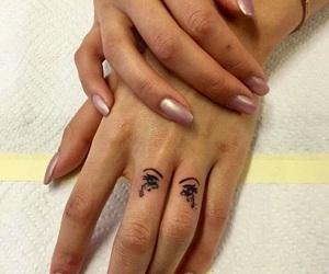 tattoo, nails, and eyes image