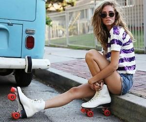 girl, tumblr, and patins image