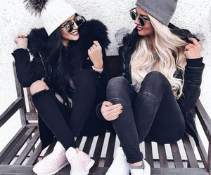girl, friends, and style image
