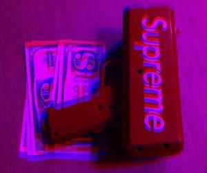dollar, supreme, and tumblr image