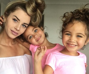 girl, family, and twins image