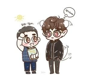 exo, chansoo fanart, and kyungsoo image