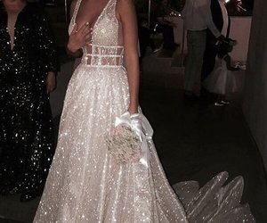 sparkly, wedding, and wedding dress image