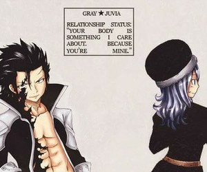 gray, fairy tail, and juvia image