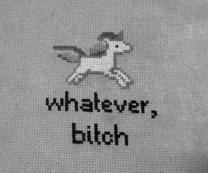 unicorn and whatever bitch image