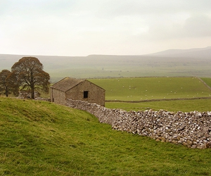 yorkshire, england, and dry stone wall image