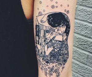tattoo, art, and kiss image