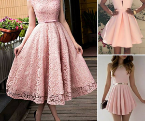 dress, kleid, and pink image