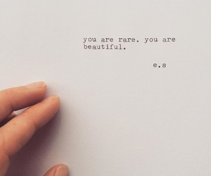 beautiful, rare, and quotes image