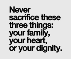 quotes, family, and dignity image