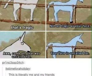 funny, tumblr, and unicorn image