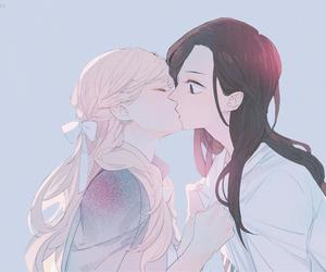 girls, kiss, and manga image
