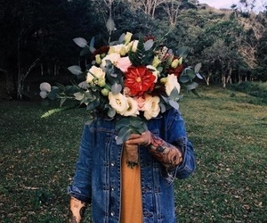 boy, flowers, and hipster image